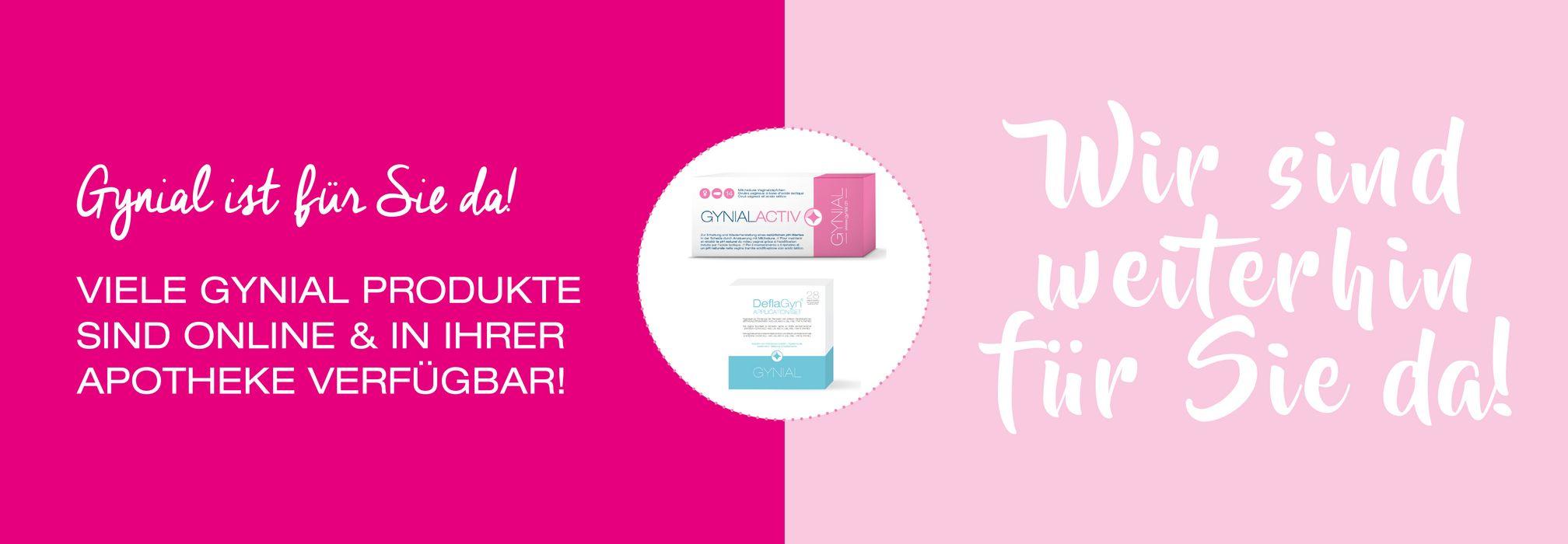Gynial Produkte verfügbar online und in der Apotheke